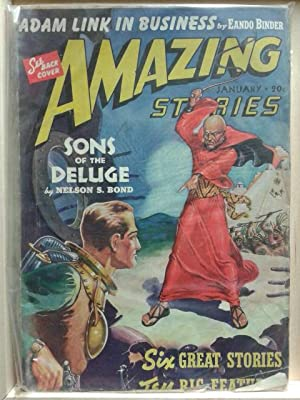 Adam Link in Business, Sons of the Deluge, January 1940, Amazing Stories, Vol. 14, Number 1, Pulp...