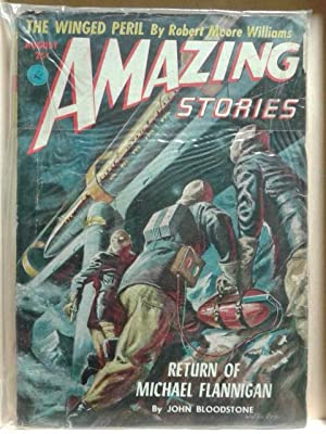 The Winged Peril, Return of Michael Flannigan, August 1952, Amazing Stories, Vol. 26, Number 5, P...