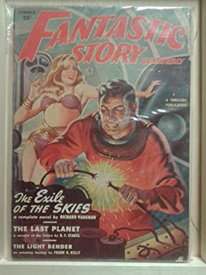 The Exile of The Skies, The Last Planet, Summer 1950, Fantastic Story, Vol. 1, Number 2, Pulp Mag...