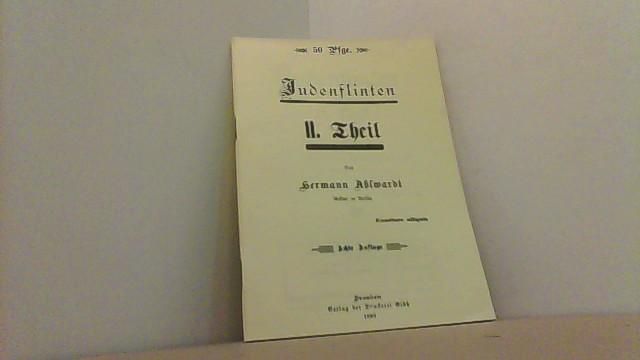 Judenflinten. II. Teil.: Ahlwardt, Hermann,