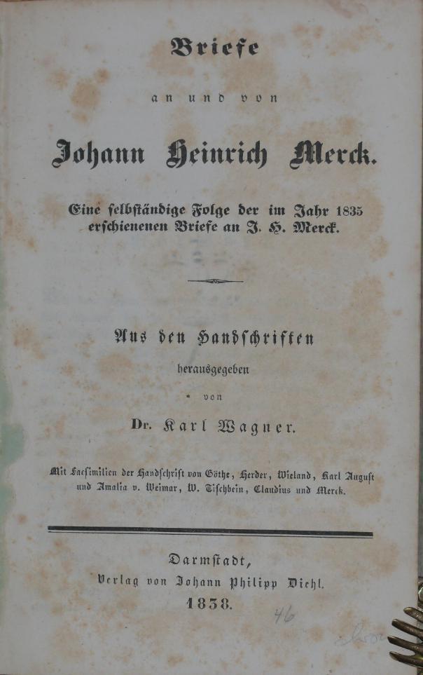 Briefe Gewicht : Johann heinrich tischbein der zvab