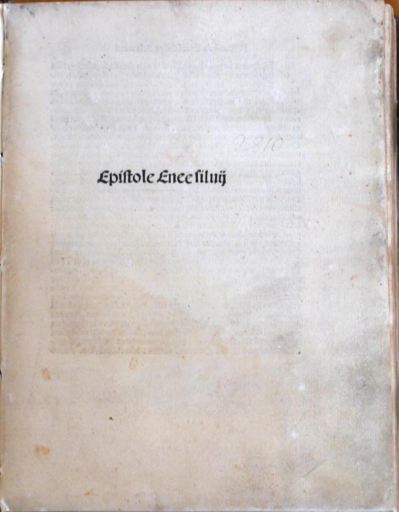Epistolae familiares. Ed. Nikolaus von Wyle. Daran: Pius II., Papst