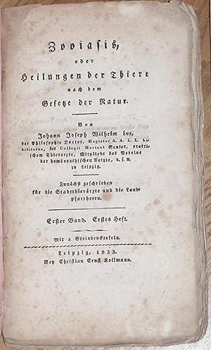 Zooiasis, oder Heilungen der Thiere nach dem: Lux, Johann Joseph