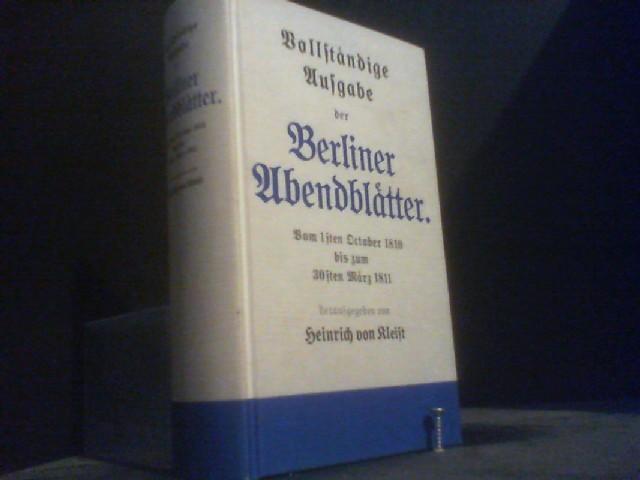 Berliner Abendblätter: Kleist, Heinrich v.
