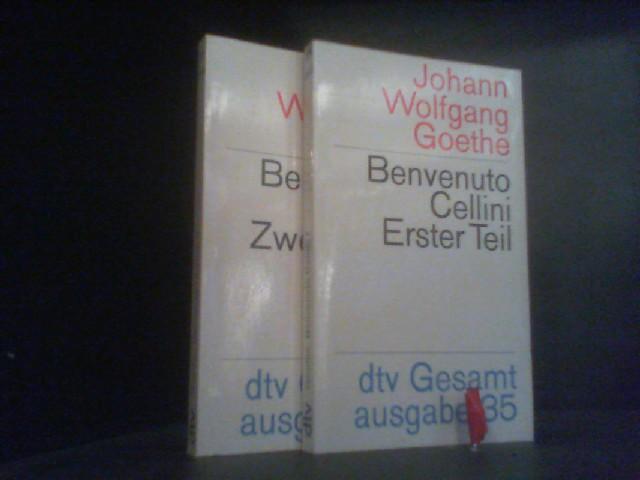 2 Bände - Benvenuto Cellini, Teil 1: Goethe, Johann Wolfgang: