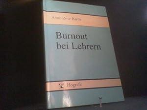 Burnout bei Lehrern (3508 102). Theoretische Aspekte: Barth, Anne-Rose: