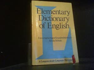 Elementary Dictionary of English. A Langenscheidt-Longman Dictionary