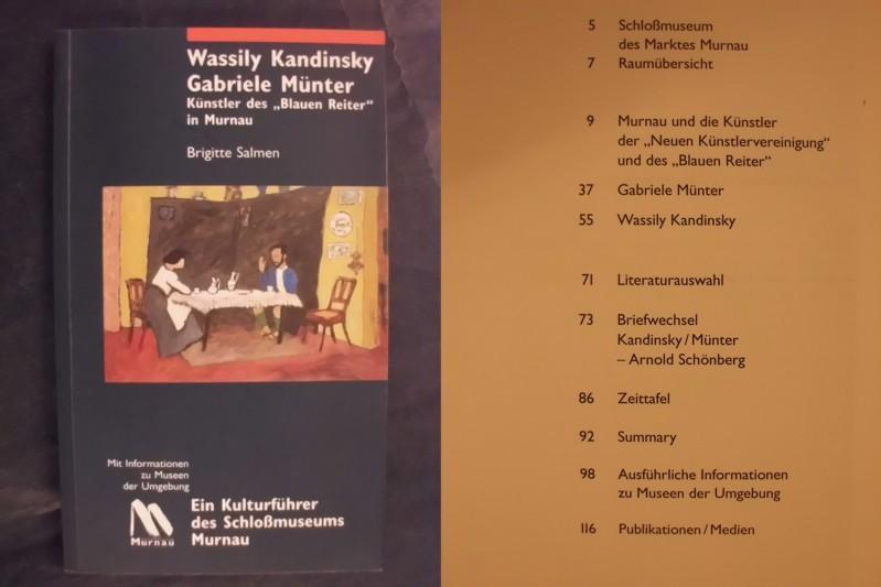 """""""Wassily Kandinsky - Gabriele Münter: Künstler des """"""""Blauen Reiter"""""""" in Murnau. Ein Kulturführer des Schloßmuseums Murnau."""" [Paperback] [Jan 01, 2004] Salmen, Brigitte"""