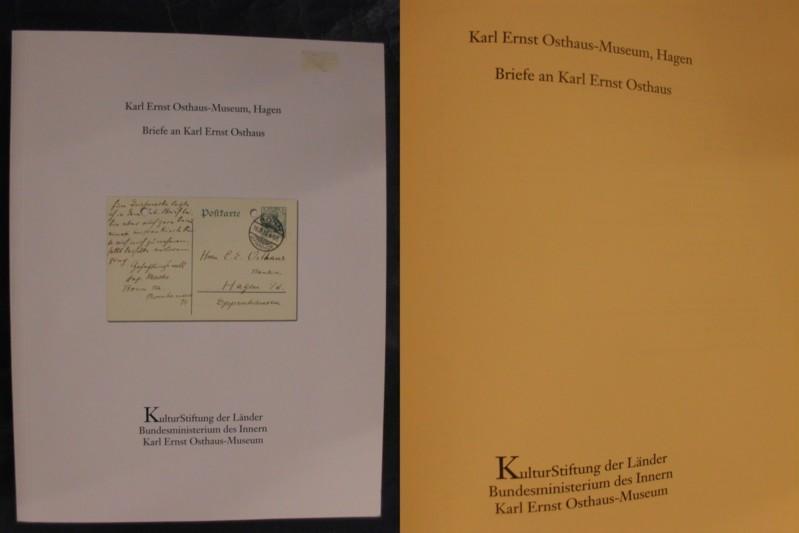 Briefe an Karl Ernst Osthaus: Karl Ernst Osthaus