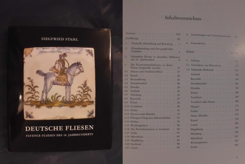 Deutsche Fliesen - Fayence-Fliesen des 18. Jahrhunderts: Stahl, Siegfried
