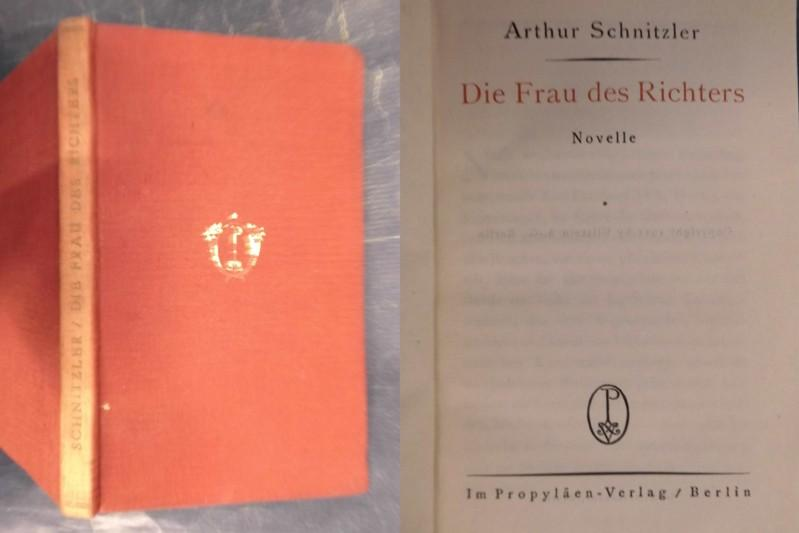 Die Frau des Richters - Novelle: Schnitzler, Arthur
