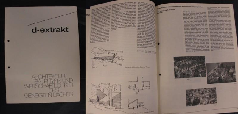 Wohnbauten - Sonderheft August 1972: d-extrakt -: Informationsdienst für neuzeitliches