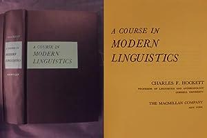 A Course in Modern Linguistics: Hockett, Charles F.