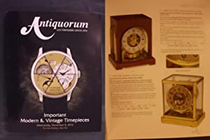 Important Modern & Vintage Timepieces - Wednesday: Antiquorum Auctioneers since