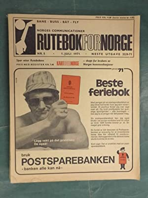 Norges Communicationer - Rutebok for Norge -: Rutebok for Norge