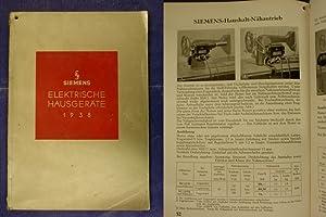 Elektrische Hausgeräte - Preisliste HK 1 1938: Siemens