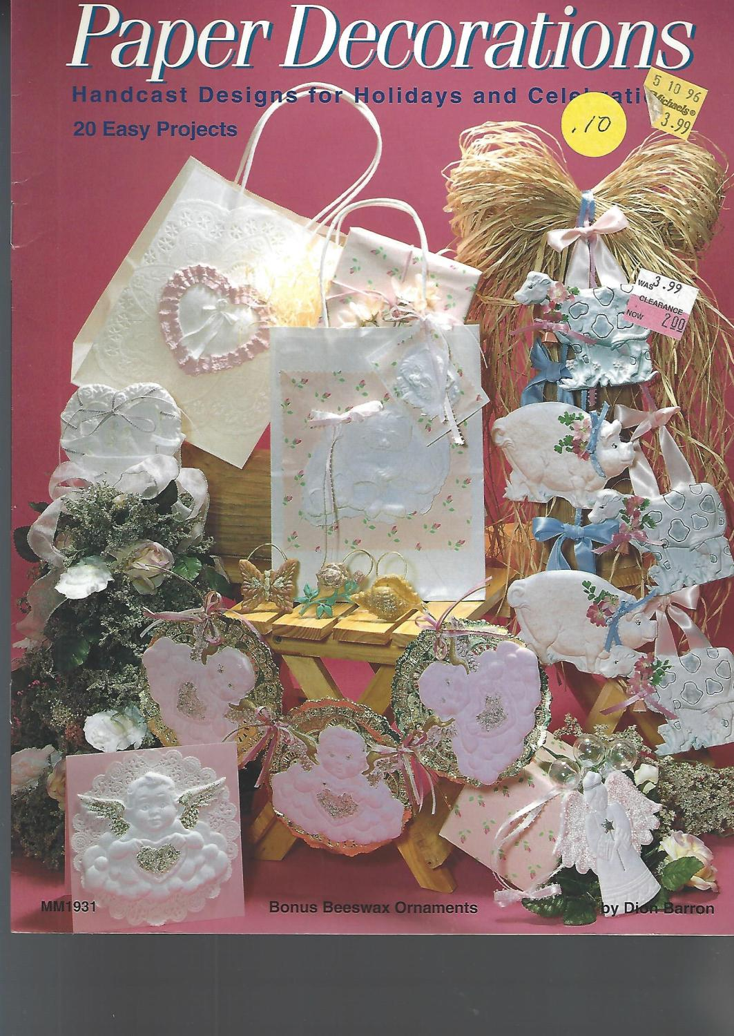 Paper Decorations -- handcast designs for