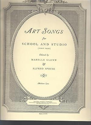 Art Songs for School and Studio (1st: Glenn, Mabelle [Editor];Spouse,