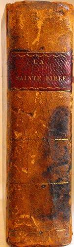 La Sainte Bible, qui contient le vieux: BIBLE. MARTIN (David),