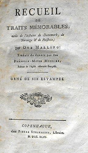 Recueil de Traits Memorables, tires de l'histoire: MALLING (Ove)