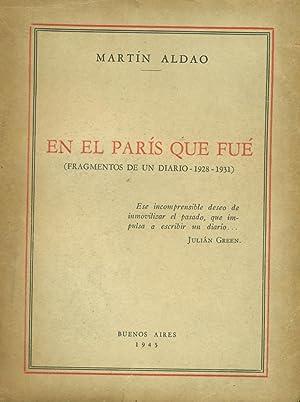 EN EL PARÍS QUE FUE: ALDAO, Martín