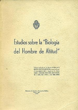 """ESTUDIOS SOBRE LA """"BIOLOGÍA DEL HOMBRE DE: CASTEX, Mariano R."""