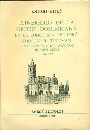 ITINERARIO DE LA ORDEN DOMINICANA EN LA: MILLÉ, Andrés