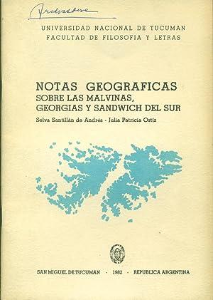 NOTAS GEOGRÁFICAS SOBRE LAS MALVINAS, GEORGIAS Y: SANTILLÁN de ANDRÉS