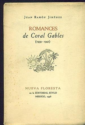 ROMANCES DE CORAL GABLES (1939 - 1942): JIMÉNEZ, Juan Ramón