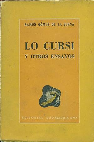 LO CURSI Y OTROS ENSAYOS: GÓMEZ DE LA