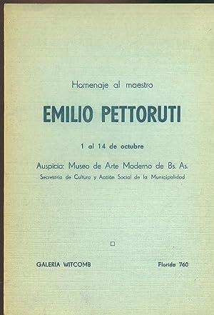 HOMENAJE AL MAESTRO EMILIO PETTORUTI: GALERÍA WITCOMB,