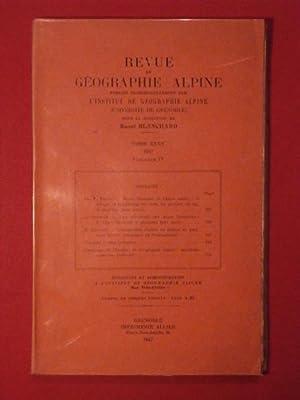 Revue de géographie alpne, tome XXXV, fascicule IV: collectif