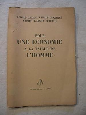 Pour une économie à la taille de l'homme: collectif