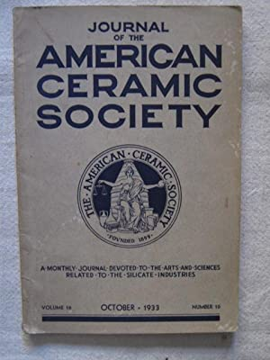 The journal of the american ceramic society: F.P. Hall, H.