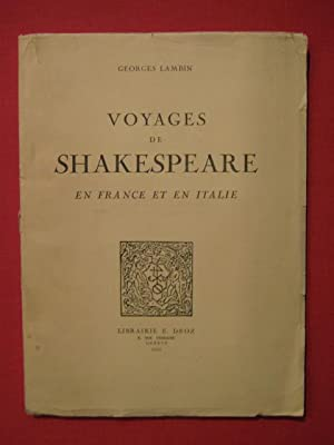 Voyages de Shakespeare en France et en: Georges Lambin