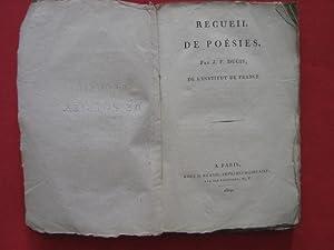 Recueil de poésie: J.F. Ducis