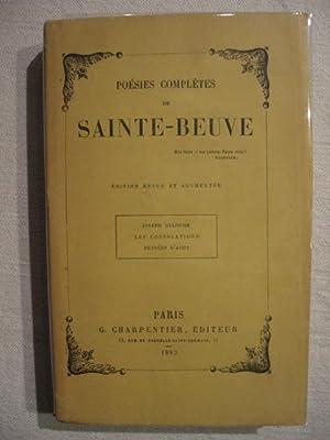 Poésies complètes de Sainte Beuve: Sainte Beuve