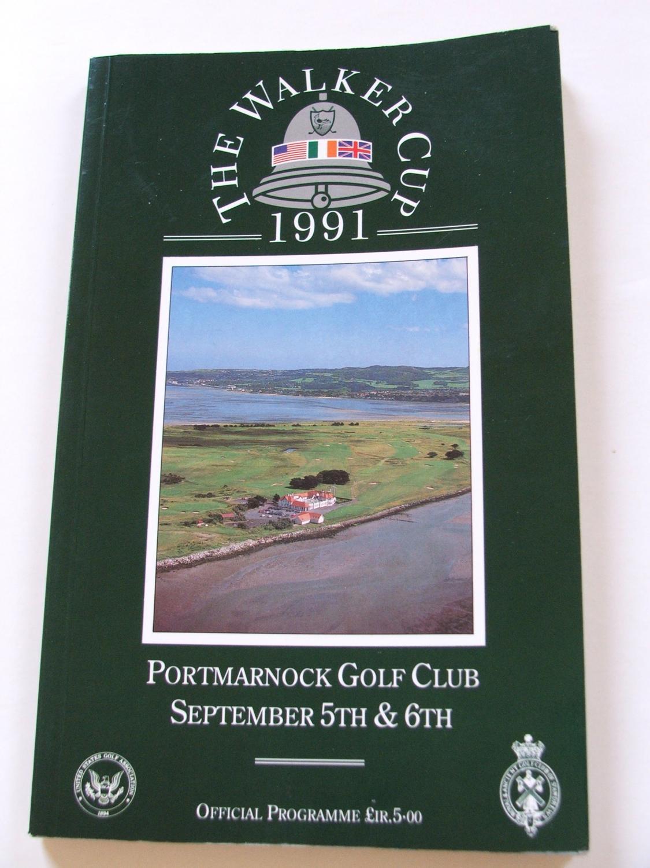 Walker Cup Program 1991 Portmarnock Golf Club