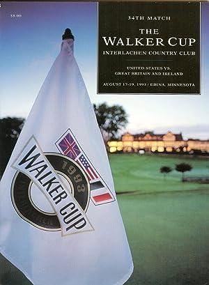 Walker Cup Program 1993 Interlachen Country Club: US Golf Association