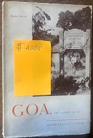 GOA, TAL COMO A VI: Marini, Emile (1901-1980)