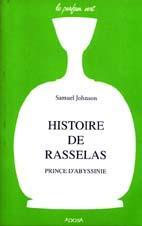 Histoire de Rasselas, prince d'Abyssinie: JOHNSON Samuel