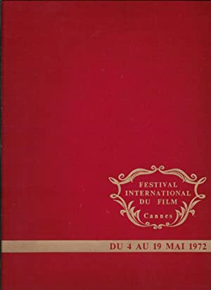 Festival international du film. Cannes 4 au 19 mai 1972.