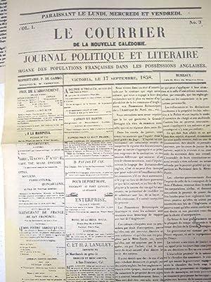 Canada.Le Courrier de la Nouvelle Calédonie. Journal Politique et Literaire.Organe des ...