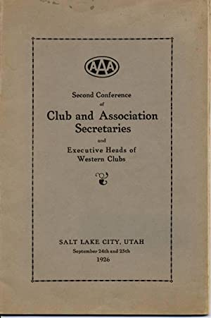 Second Conference of Club and Association Secretaries: American Automobile Association]