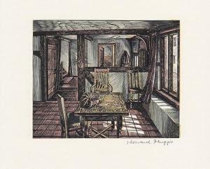 Interiors, wood-engravings by Howard Phipps.,: Phipps, Howard.