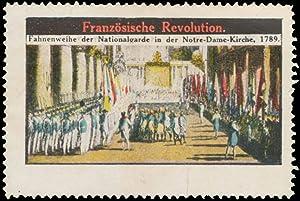 Reklamemarke Fahnenweihe der Nationalgarde in der Notre-Dame-Kirche