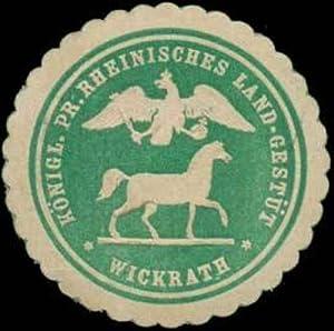 Siegelmarke K. Pr. Rheinisches Land-Gestüt Wickrath