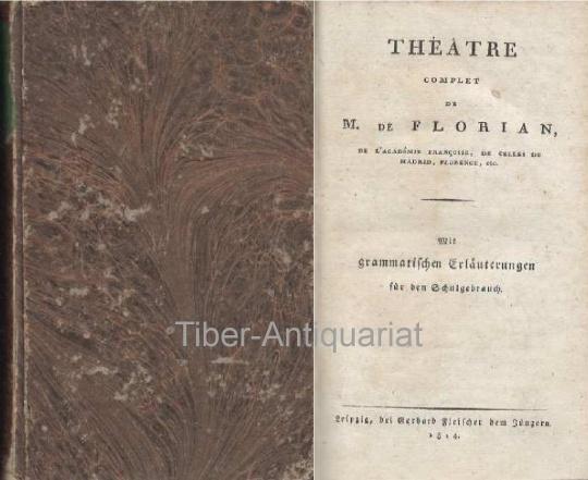 Théatre Complet de M. de Florian de: Florian, M. de