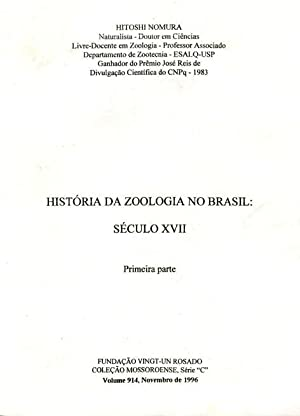 História da zoologia no Brasil : século: Nomura, Hitoshi