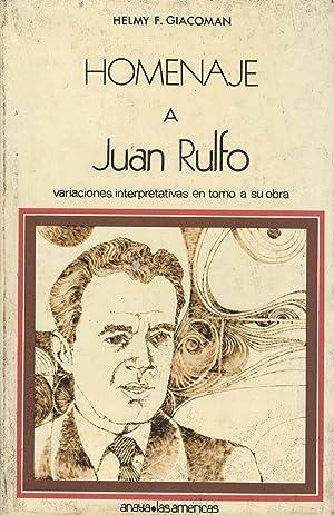 Homenaje a Juan Rulfo : variaciones interpretativas: Giacoman, Helmy F.